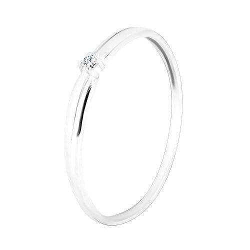 Zlatý 14K prsteň - žiarivý číry zirkón