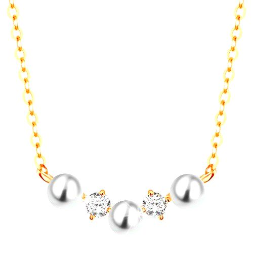 Zlatý náhrdelník 585 - jemná retiazka