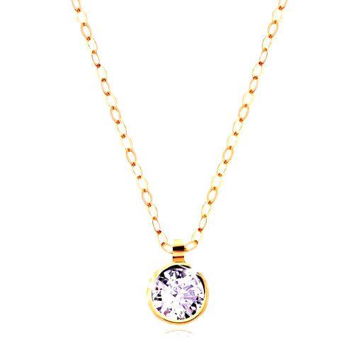 Zlatý náhrdelník 585 - lesklá retiazka
