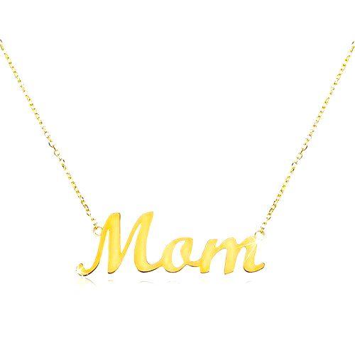 Zlatý náhrdelník 585 s nápisom Mom