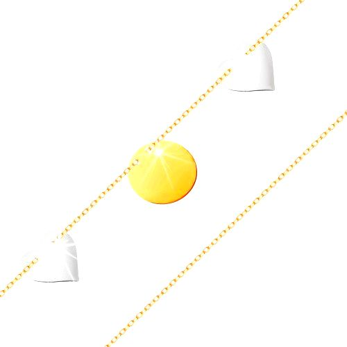 Zlatý náramok 585 - tenká retiazka