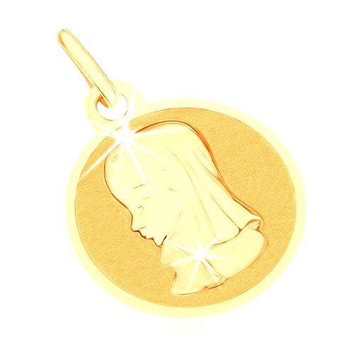 Zlatý prívesok 375 - okrúhly plochý medailón