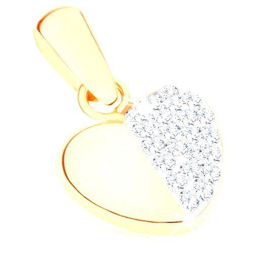 Zlatý prívesok 375 - súmerné srdiečko