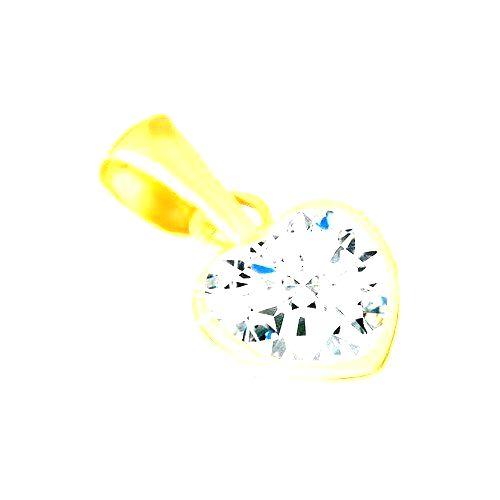 Zlatý prívesok 585 - lesklá kontúra pravidelného srdca