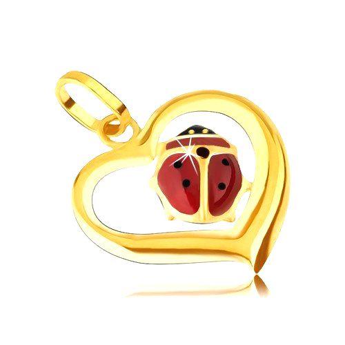 Zlatý prívesok 585 - obrys nepravidelného srdca