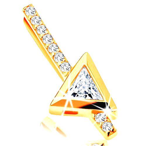 Zlatý prívesok 585 - rovná zirkónová palička