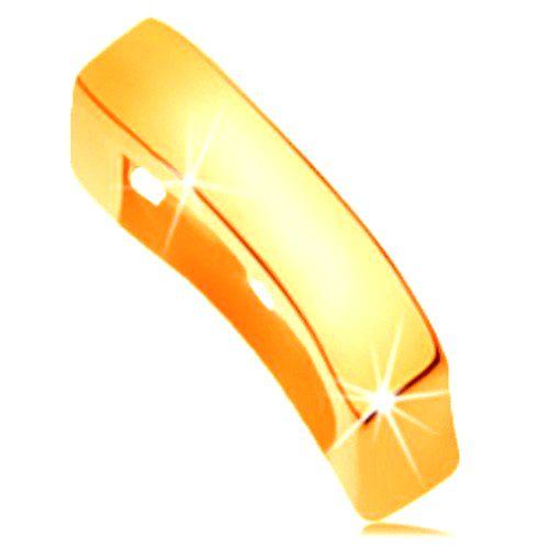 Zlatý prívesok 585 s lesklým a hladkým povrchom