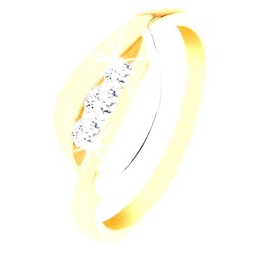 Zlatý prsteň 375 - dvojfarebné zvlnené línie