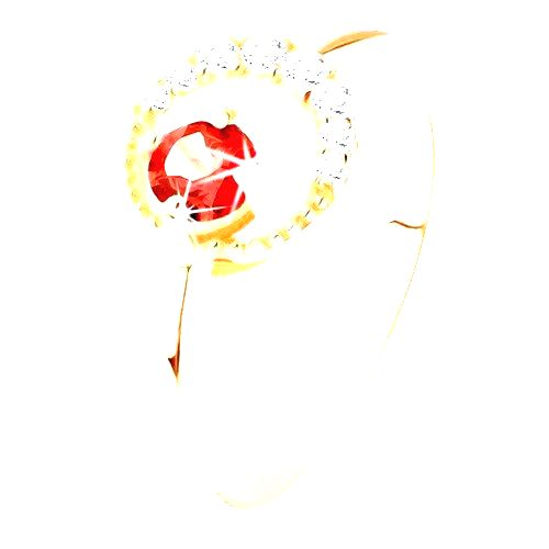 Zlatý prsteň 375 - zirkónový kosák mesiaca