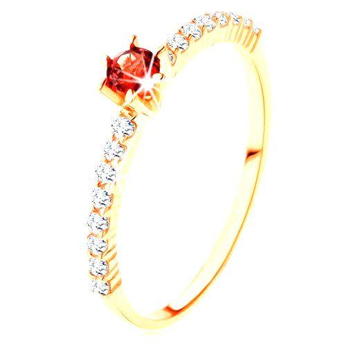 Zlatý prsteň 585 - číre zirkónové línie