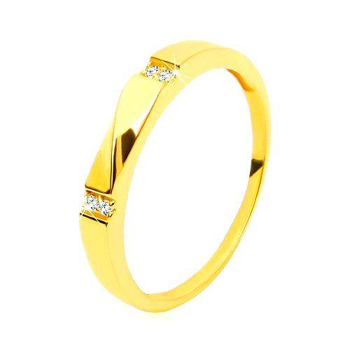 Zlatý prsteň 585 - číre zirkóny