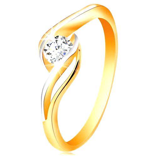 Zlatý prsteň 585 - číry zirkón