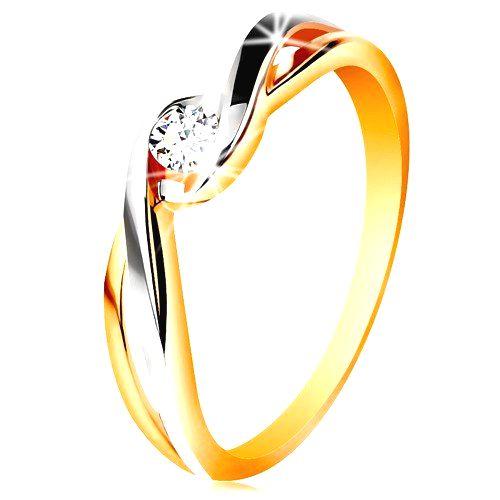 Zlatý prsteň 585 - dvojfarebné