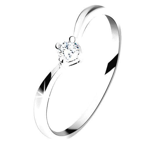 Zlatý prsteň 585 - lesklé zahnuté ramená