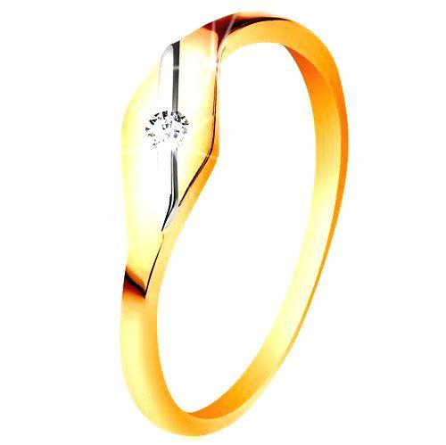 Zlatý prsteň 585 - lesklé zrnko