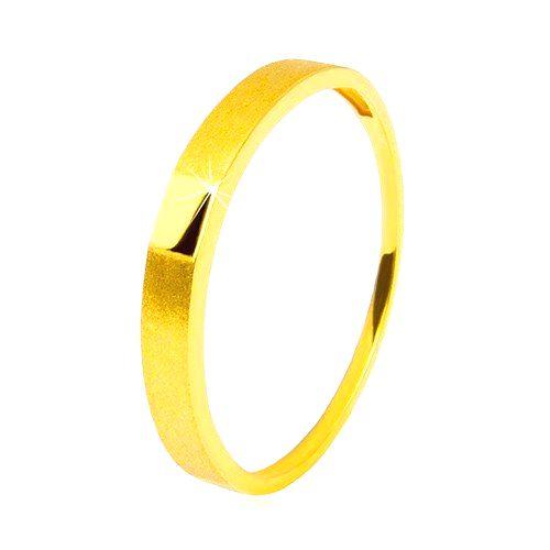 Zlatý prsteň 585 - lesklý hladký obdĺžnik