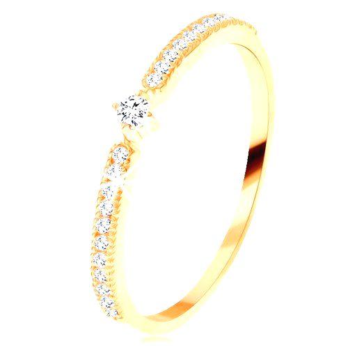Zlatý prsteň 585 - okrúhly číry zirkón