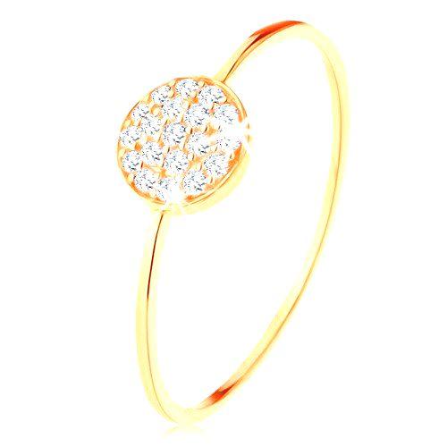 Zlatý prsteň 585 - tenké lesklé ramená