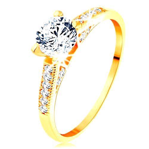 Zlatý prsteň 585 - trblietavé ramená