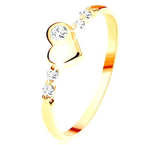 Zlatý prsteň 585 - vypuklé nepravidelné srdiečko