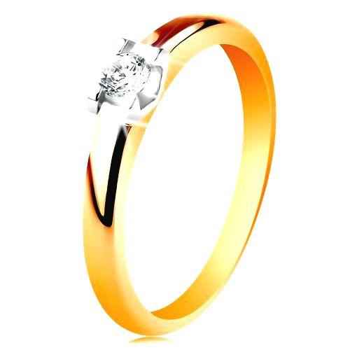 Zlatý prsteň 585 - zaoblené ramená