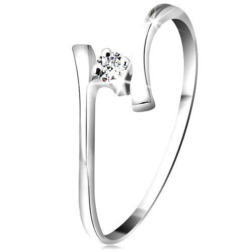 Zlatý prsteň 585 - žiarivý číry briliant