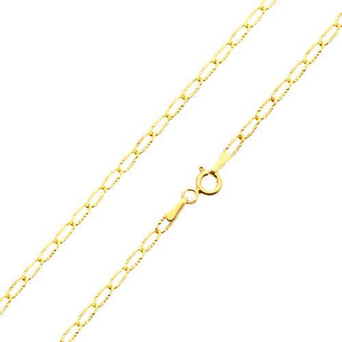 Zlatá retiazka 585 - tenké ploché očká