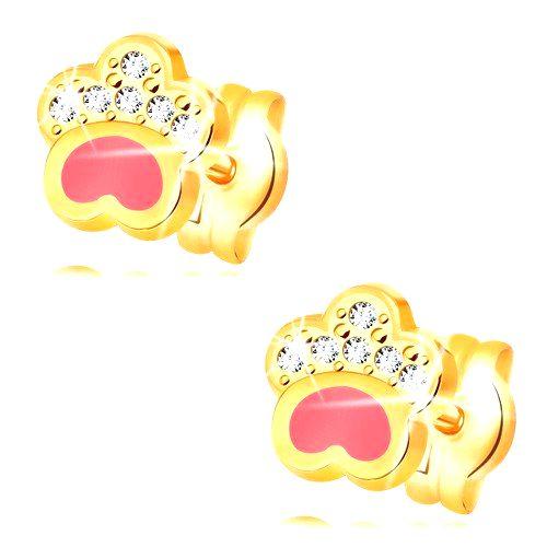 Náušnice zo žltého 14K zlata