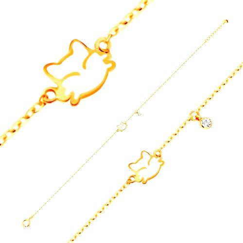 Náramok v žltom zlate 585