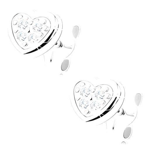 Zlaté náušnice 375 - malé súmerné srdce