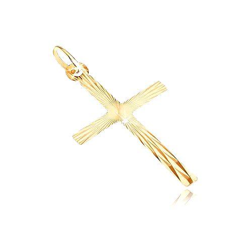 Prívesok zo zlata 14K - veľký latinský kríž