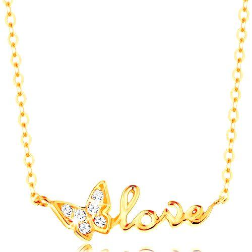 Ligotavý zlatý náhrdelník 585 - retiazka z oválnych očiek